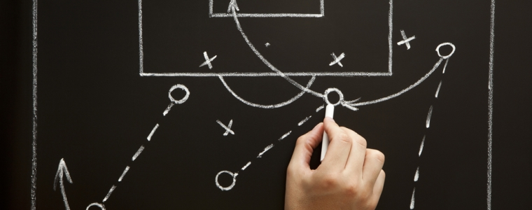 Football/Soccer Strategy Diagram